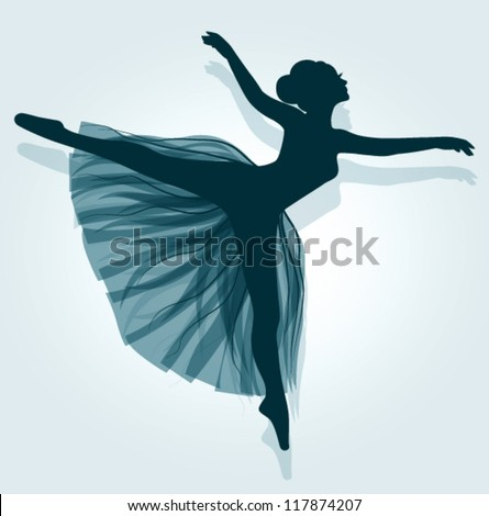 Vector ballerina - stock vector