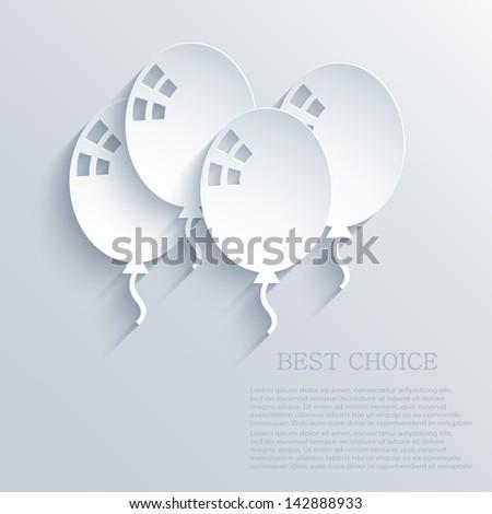 Vector ballons background. eps10 - stock vector