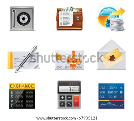 Vector banking icons. Part 2 - stock vector