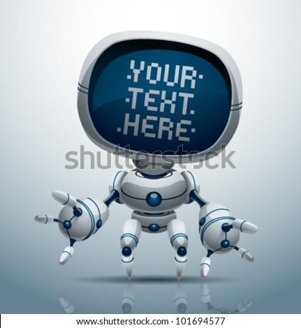 vector banner robot 11 - stock vector