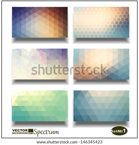 Vector banner set. Abstract header vector background . Triangle seamless banners.  Geometric shapes. You can place your message above triangles rectangle. - stock vector