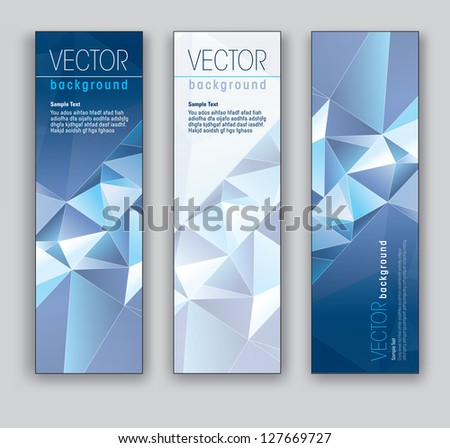 Vector Banners. Abstract Backgrounds. Eps10. - stock vector