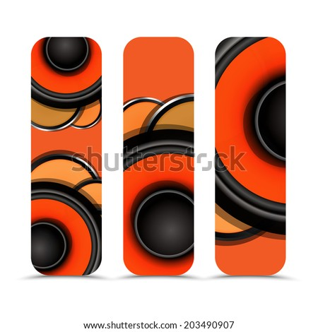 Vector banners- music theme  - stock vector