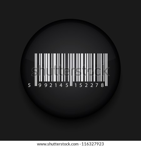 Vector bar code icon. Eps10. Easy to edit - stock vector