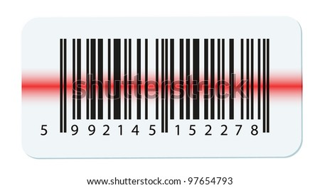 Vector bar-code isolated on white - stock vector