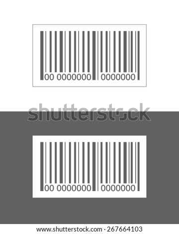 Vector bar code set isolated on both a white and dark background - stock vector
