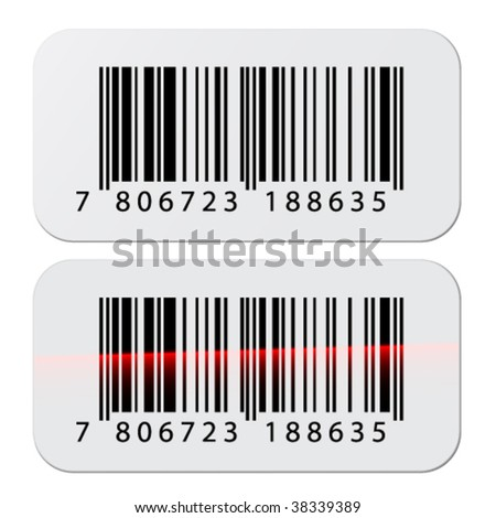 vector barcode stickers - stock vector