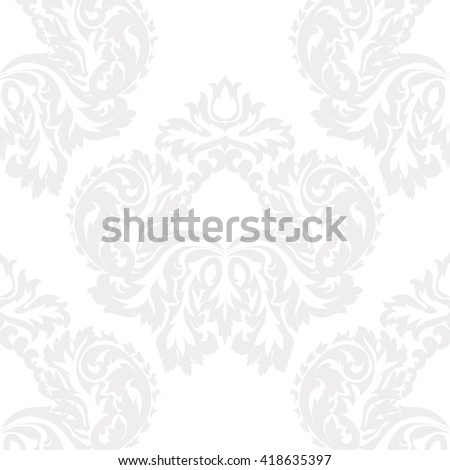 Vector Baroque Damask ornament pattern element. Elegant luxury texture for textile, fabrics or wallpapers backgrounds. Blue serenity color - stock vector