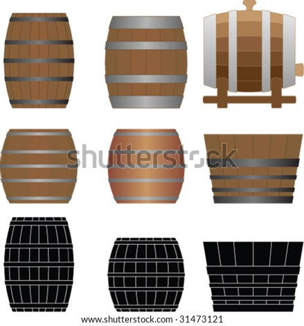 Vector barrel - stock vector