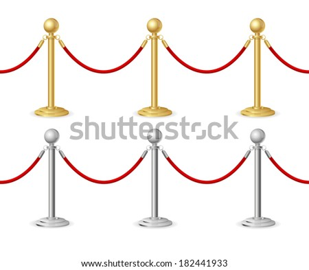 Vector Barrier rope - stock vector