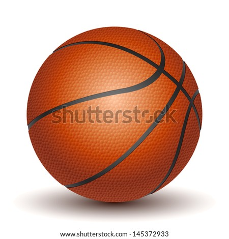 Vector Basketball isolated on a white background. - stock vector