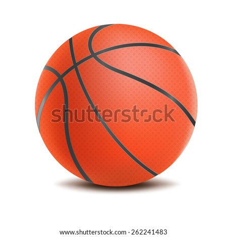 Vector Basketball isolated on a white background - stock vector