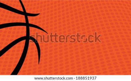 Vector basketball themed background - stock vector