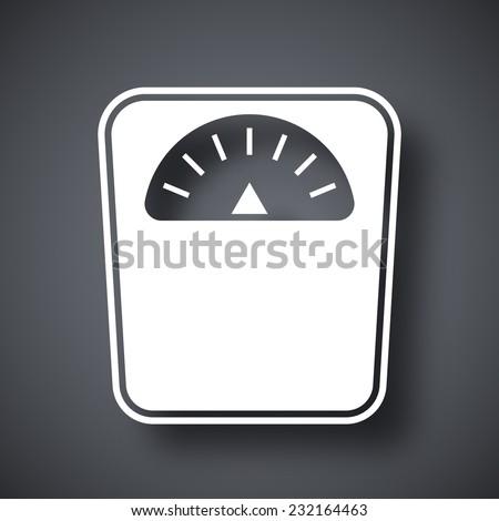 Vector bathroom scales icon - stock vector