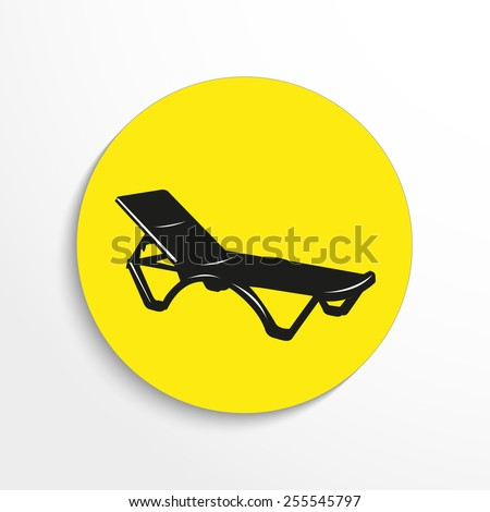 Vector beach sunbed web 3d icon. - stock vector