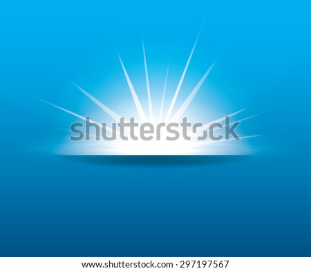 Vector beam of light for your project with copyspace - stock vector