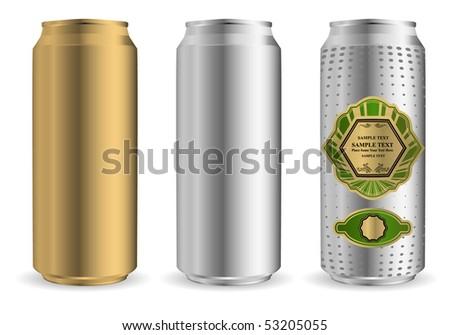vector beer can - stock vector