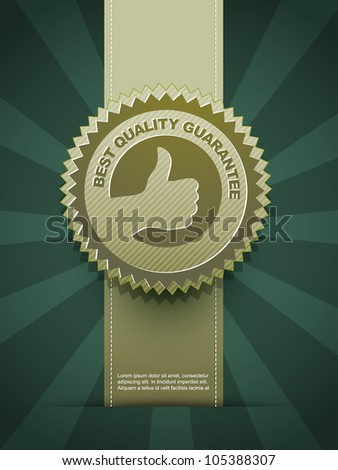 vector best quality design label - stock vector