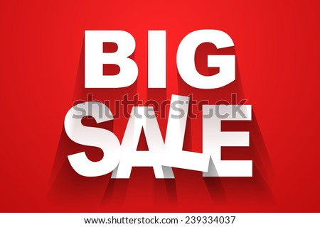 Vector big sale background - stock vector