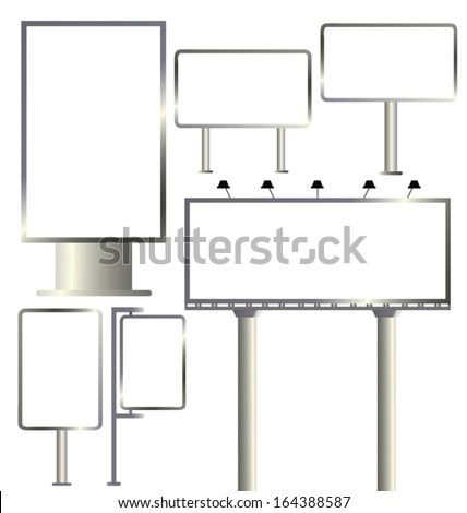 Vector billboard template. Outdoor advertising. Vector illustration. - stock vector