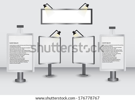 Vector Billboards Collection  on White Background - stock vector