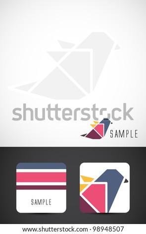 Vector bird icon such logo and business card templates - stock vector