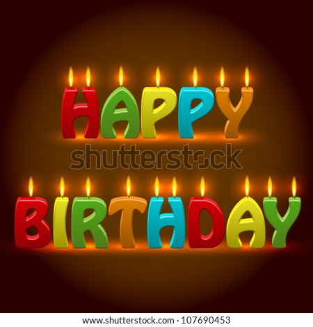 Vector Birthday Candles - stock vector