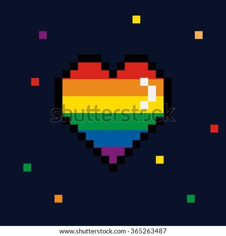 8 bit heart free vector download 4601 Free vector for