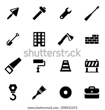Vector black construction icon set. Construction Icon Object, Construction Icon Picture, Construction Icon Image, Construction Icon Graphic, Construction Icon JPG, Construction Icon EPS - stock vector - stock vector