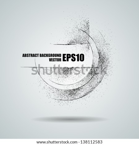Vector black grunge banner. Abstract background - stock vector