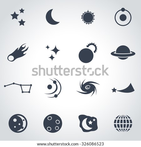 Vector black space icon set. Space Icon Object, Space Icon Picture, Space Icon Image, Space Icon Graphic, Space Icon JPG, Space Icon EPS, Space Icon AI - stock vector - stock vector