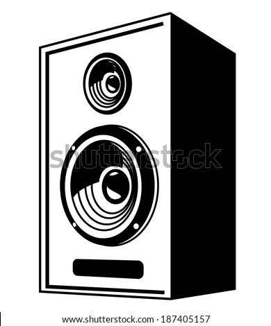 vector black Speaker icon on white background - stock vector