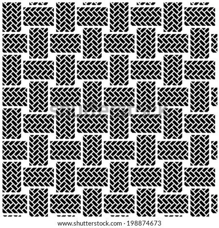 vector black white seamless textile pattern - stock vector