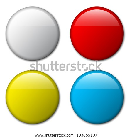 Vector blank badge template illustration - four colors - stock vector