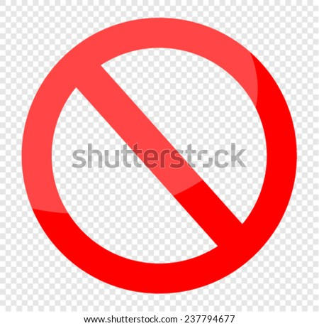 vector blank ban - stock vector