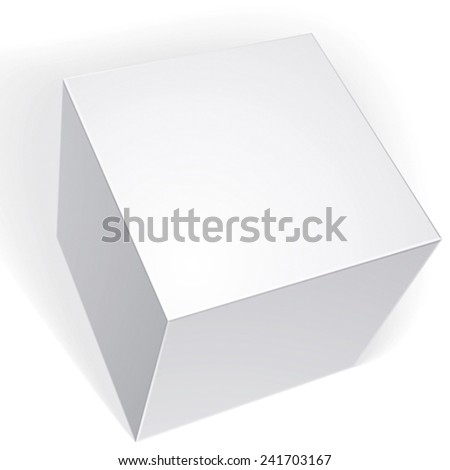 Vector blank box isolated on white background, template for your package design - stock vector