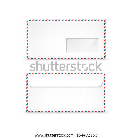 Vector Blank Envelope - stock vector