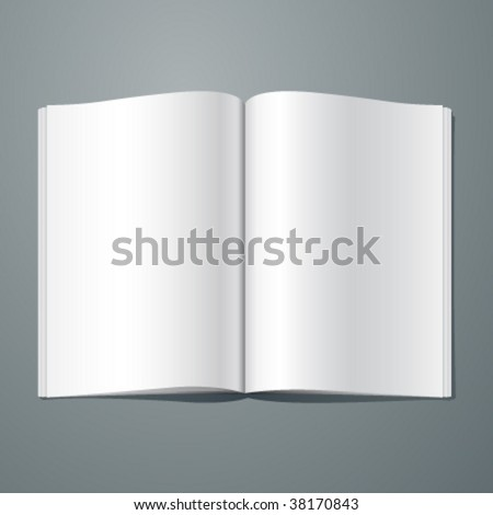 Vector blank magazine spread. Editable. No mesh. - stock vector