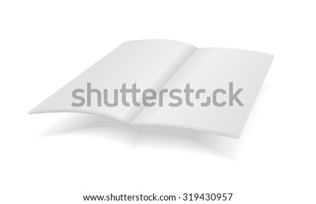 Vector blank magazine spread on white background - stock vector