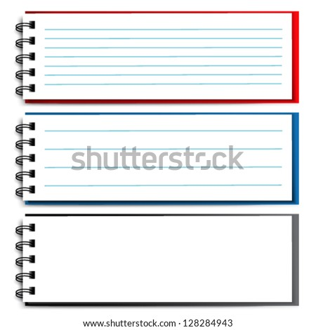 Vector blank open notebook - stock vector