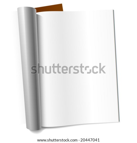 Vector blank page of magazine. Insert your graphics. - stock vector