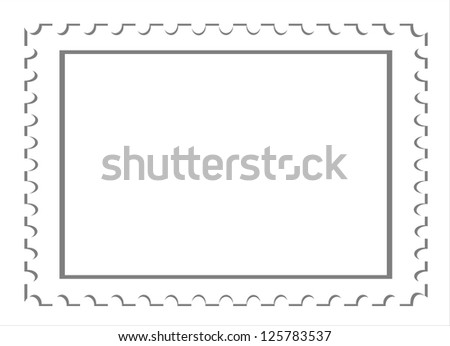 Vector   blank postage stamps isolated  background. - stock vector