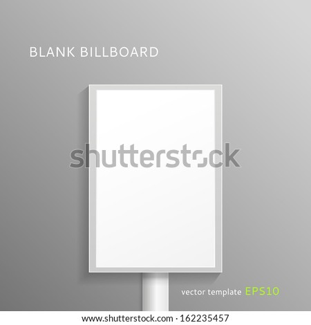 Vector blank roll-up banner isolated on gray background for your portfolio - stock vector