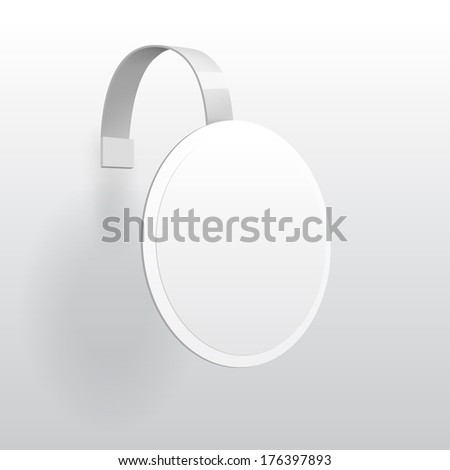 Vector Blank Round Wobbler with Transparent Strip Isolated on a White Background - stock vector