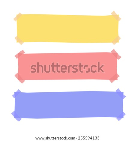 vector blank stick note on a white background - stock vector