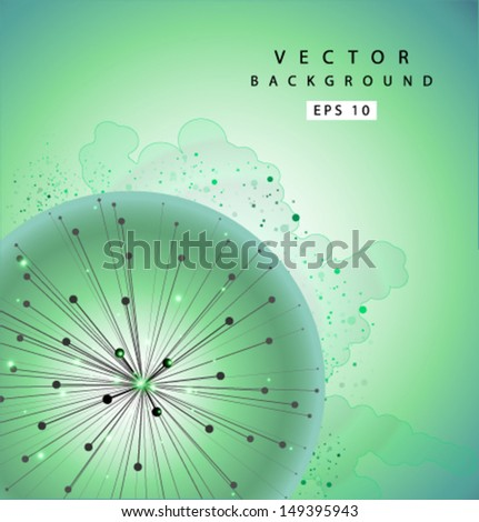 Vector blowball grunge background 01 - stock vector