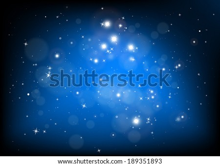 Vector blue abstract background illustration - Vector space blue background illustration - stock vector