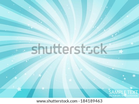Vector blue abstract burst of space - Circular in space template background design illustration - stock vector