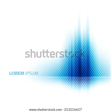 Vector blue abstract business background. Template brochure design - stock vector