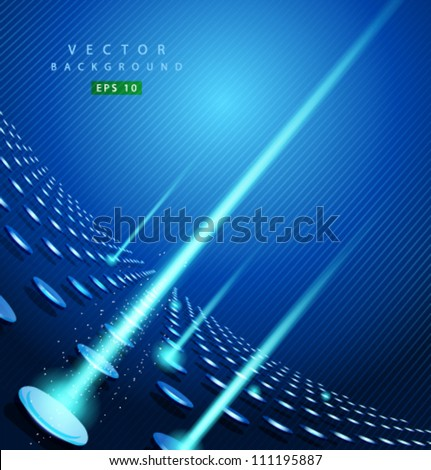 Vector blue dot and line - stock vector